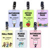 Hall Pass Card with Free Clips