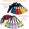 Order SKU 433-LAN for your set with lanyards instead of clips.