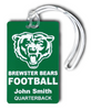 Team Bag Tags - Optional customizing with names on front instead of double sided.