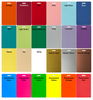Large selection of background colors.