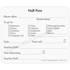 2-part Hall Pass Slip with Carbonless Copy