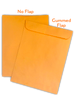 """9"""" X 12"""" Envelope Top Options viewed from the back of the envelope."""