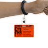 Greyscale Photo Medical ID Card With wrist coil option.