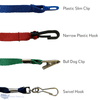 Mask lanyard attachment options for affixing to masks.