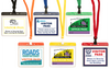 Reusable Visitor Pass Tags in Horizontal Pouches with Breakaway Lanyards
