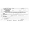 Homework Notice (137) 3 part carbonless paper - optional imprint