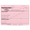 Student Behavior Referral - 3 part carbonless forms with option imprint available