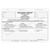 Deficiency Report - 3 part carbonless form (151) with optional Imprint