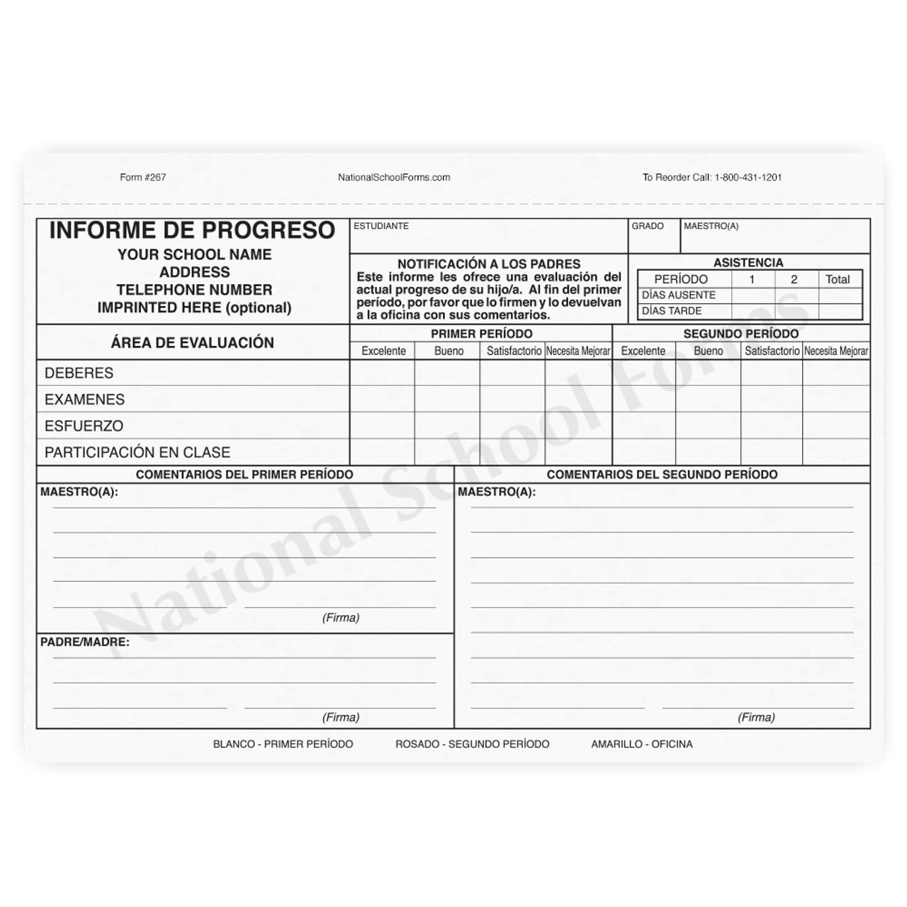 Informe de Progreso (267) con la escuela impronta