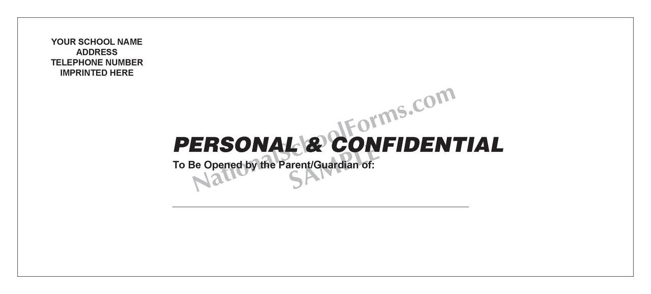 Confidential Envelope (431) With Imprint