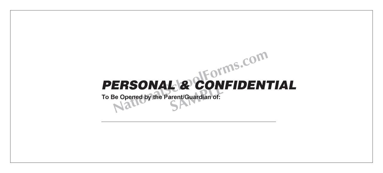 Confidential Envelope (431) Without Imprint