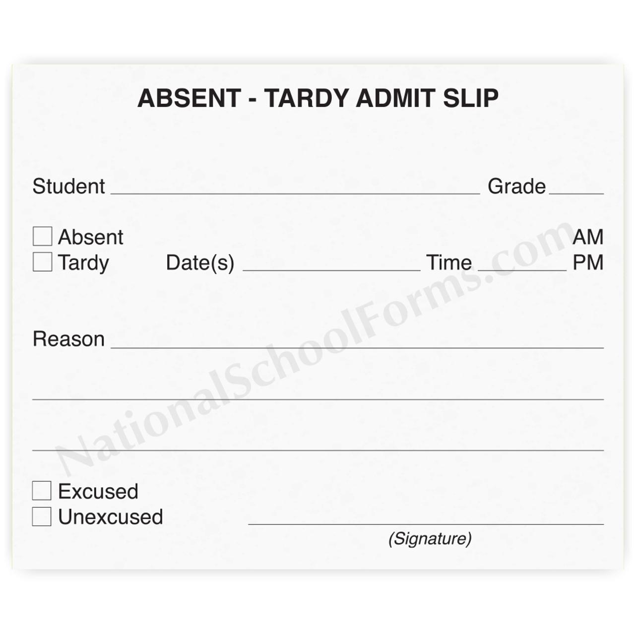 Absent-Tardy Admit Slip (145)