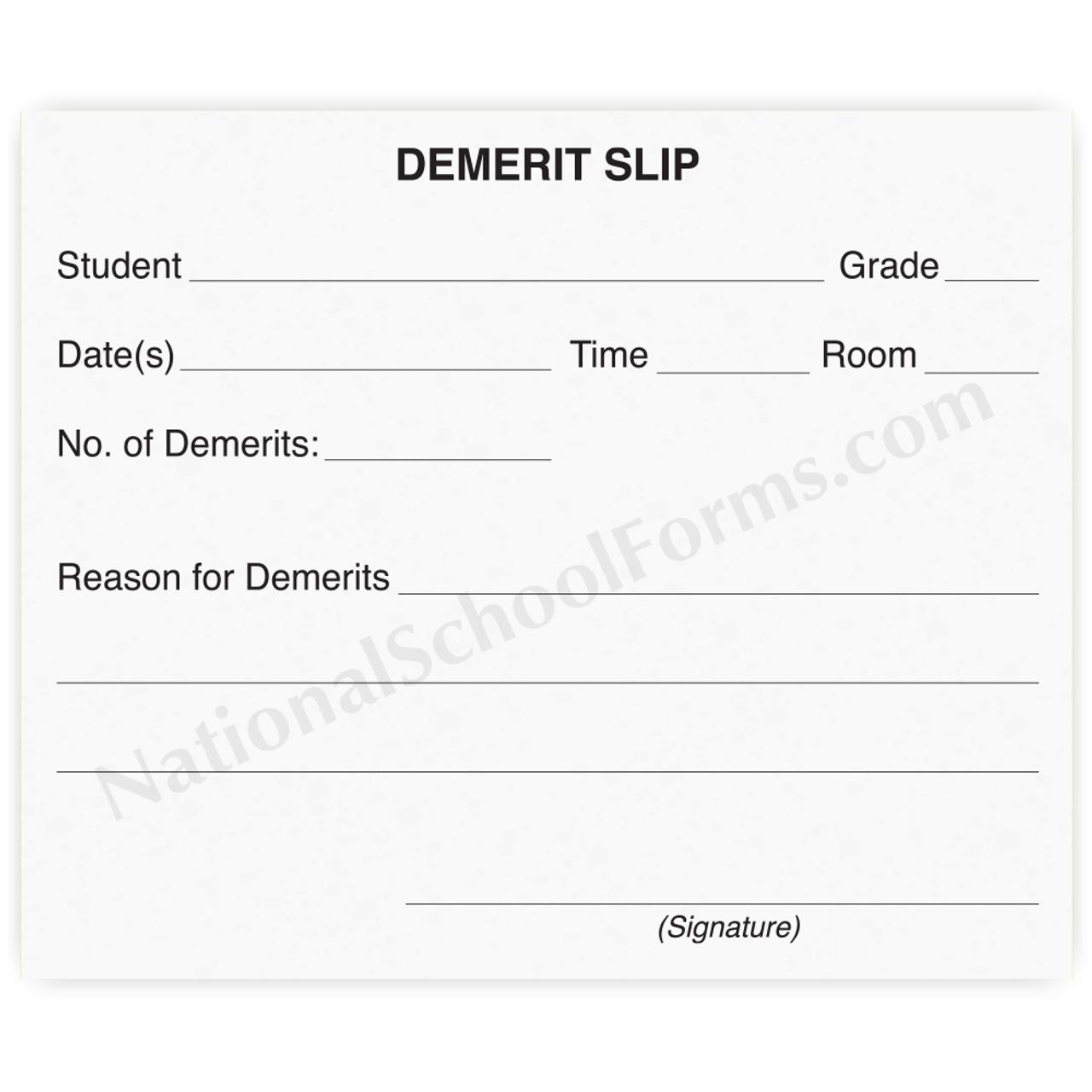 Demerit Slip (149)