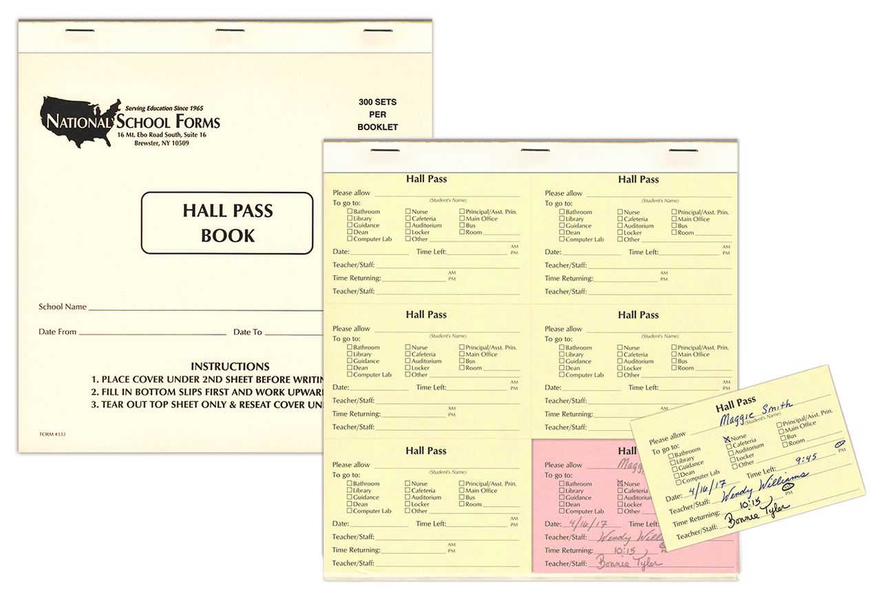 Hall Pass Slip Booklet (332)