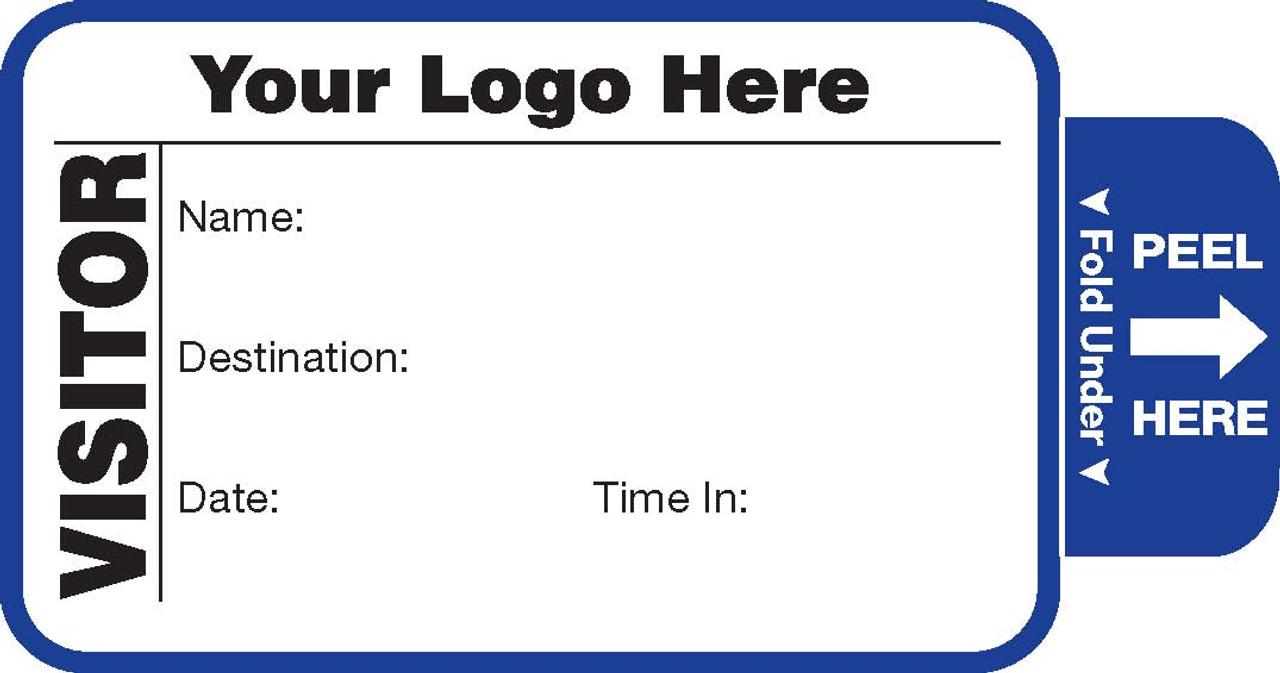 Visitor Pass Registry Book - Self-Expiring - Customized (242F)