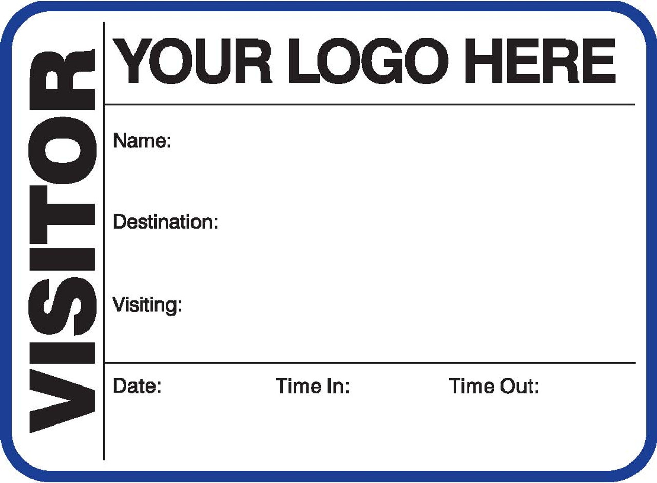 Visitor Pass Registry Book - Customized (242G-791)