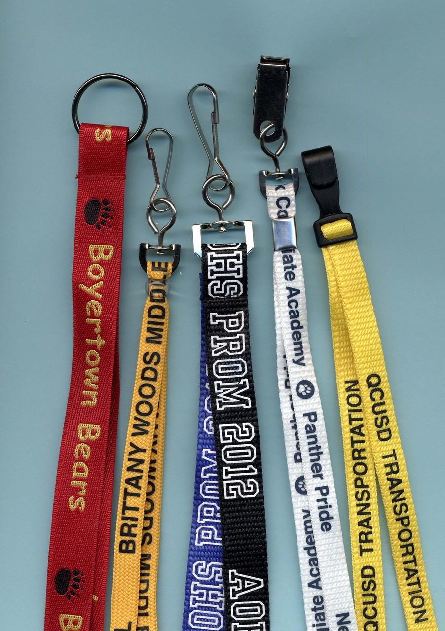 Customized Lanyards - NationalSchoolForms.com