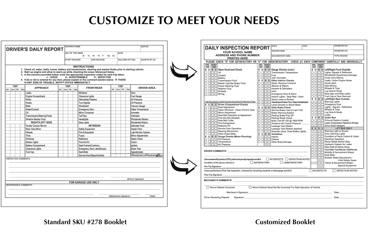 Customized Inspection Booklet Example