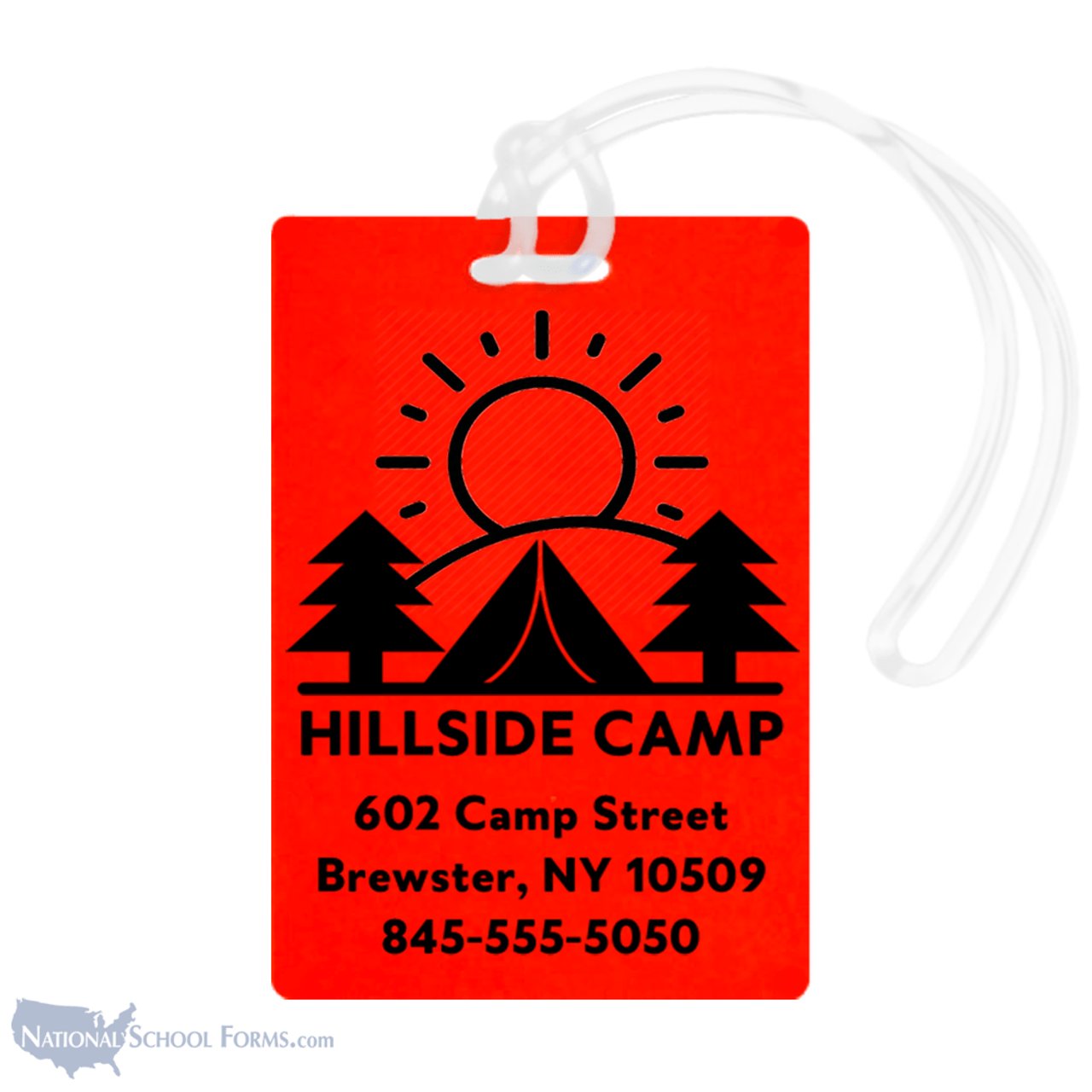 Camp Backpack and Bag Tags