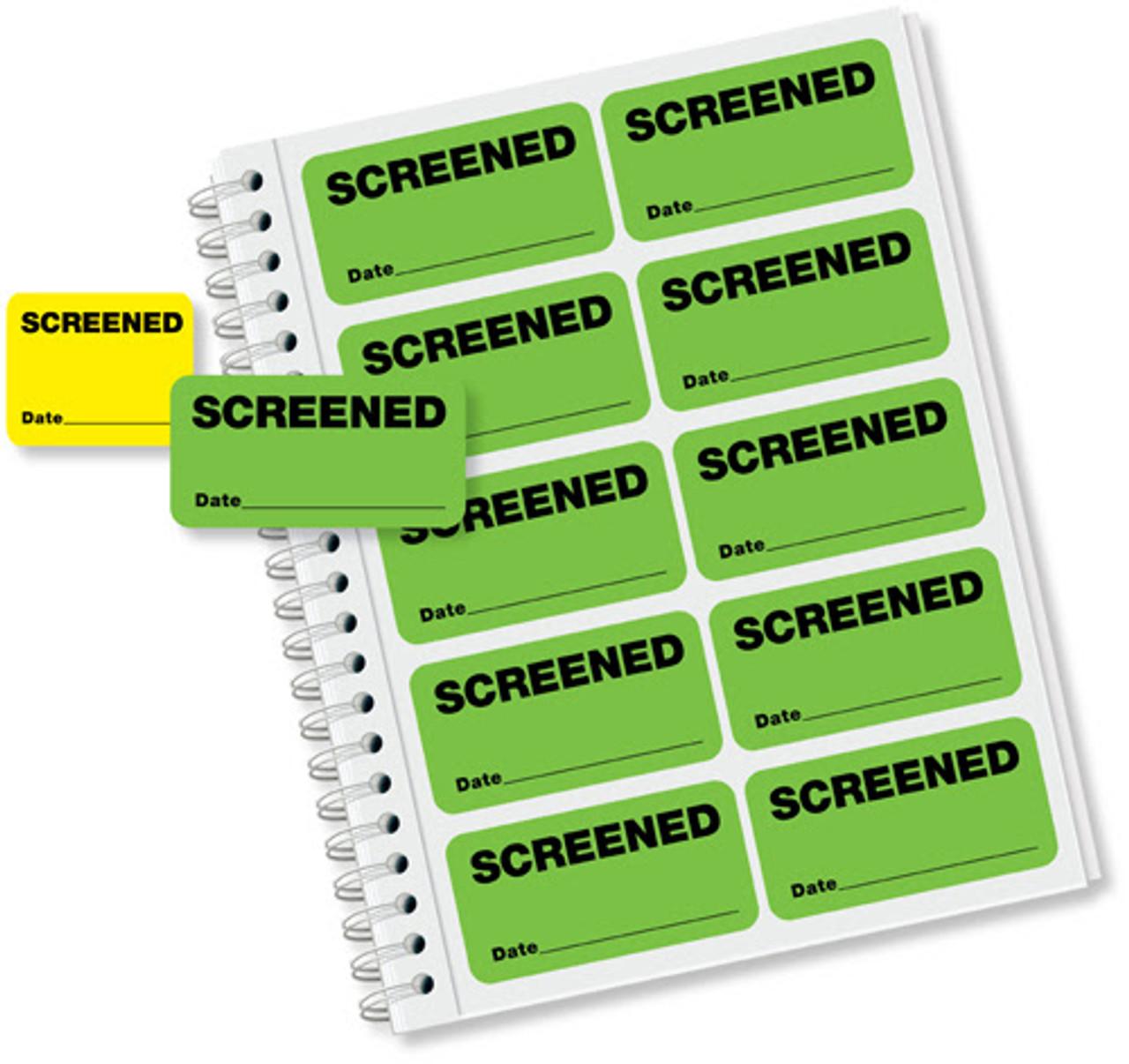 Screened Label Badge Book 719