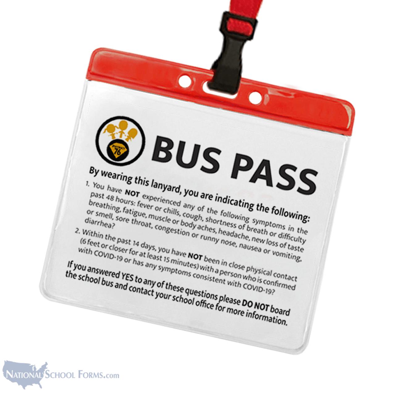 Covid Self-Certification Bus Pass on Breakaway Lanyard