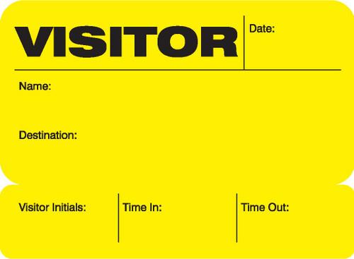 Visitor Pass Registry Book - Self-Expiring 806