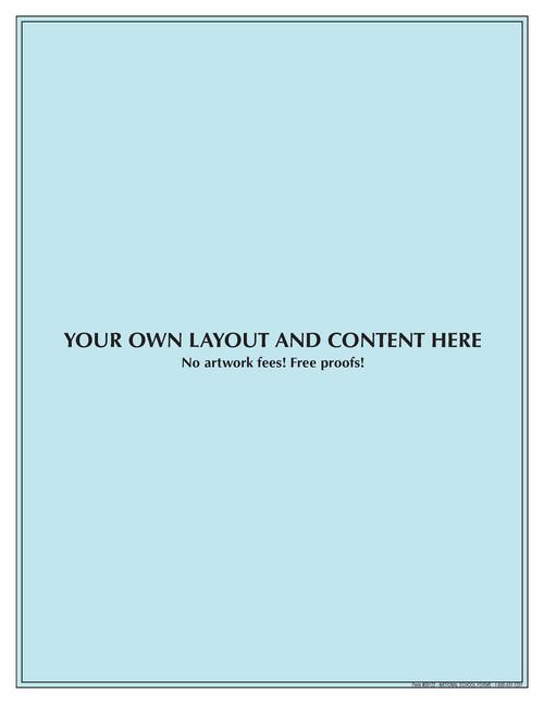 "#29122 - Customized Pad - 8½"" x 11"" - 100 Sheets per Pad"