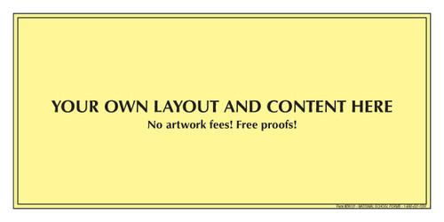 "29131 - Customized Pad - 8½"" x 4¼"" - 50 Sheets per Pad"