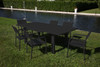 HELIOS -  Extendable Table Patio Set with 8 Chairs