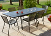 "ESTATE -  9 Piece Steel Extension-Table Patio Set 36""x63-87"""