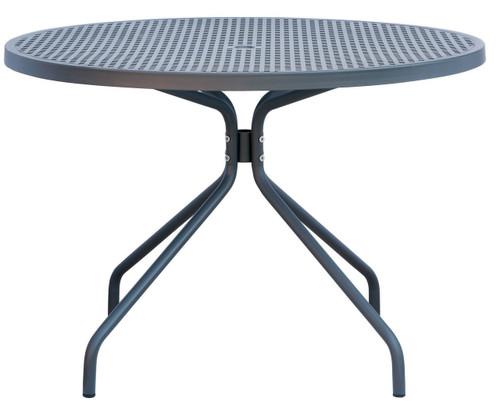 """LUNA - 5 Piece Steel Patio Set 43"""" Round"""