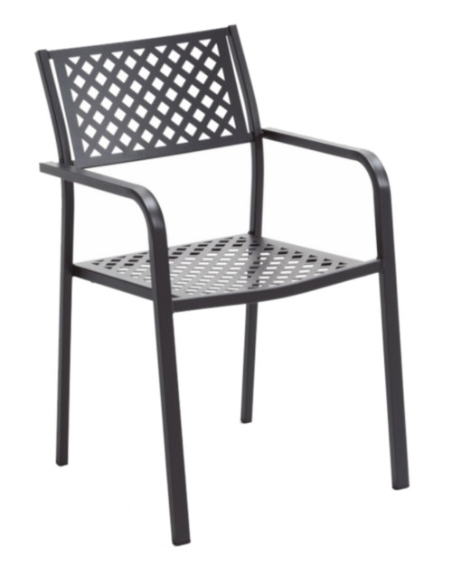 "LOLA - 5 Piece Steel Patio Set 36""x36"""
