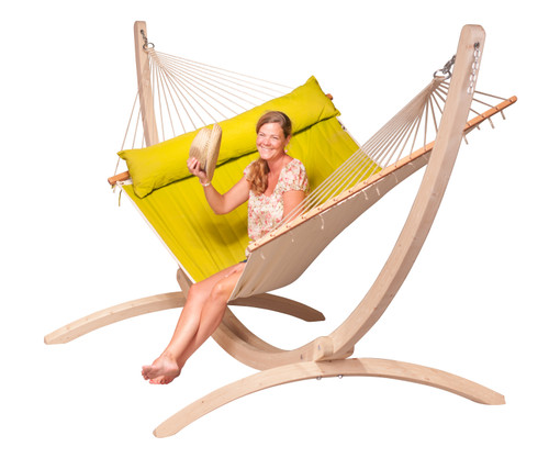 CLASSIC WOOD HAMMOCK SET - LIME (out of stock)