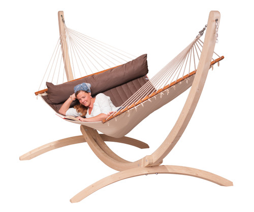CLASSIC WOOD HAMMOCK SET - MOKA (out of stock)