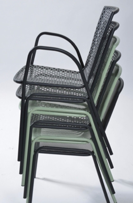 Chairs stack 15 pcs high.