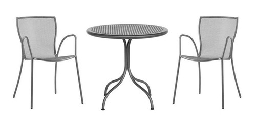 """32"""" Round Table + 2 Stacking Armchairs"""