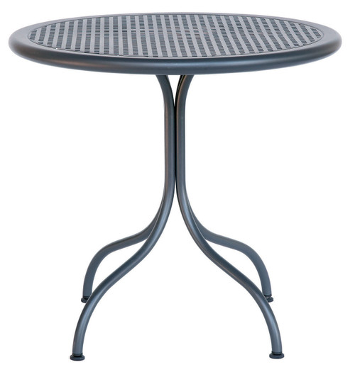 Each table leg has an adjustable glide.