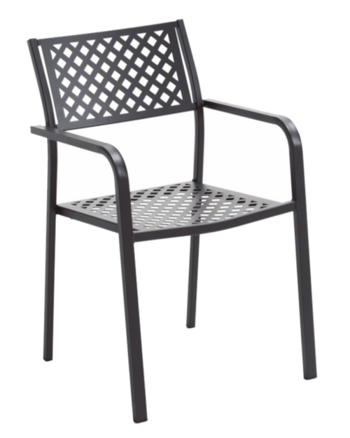 Sturdy stacking armchair.