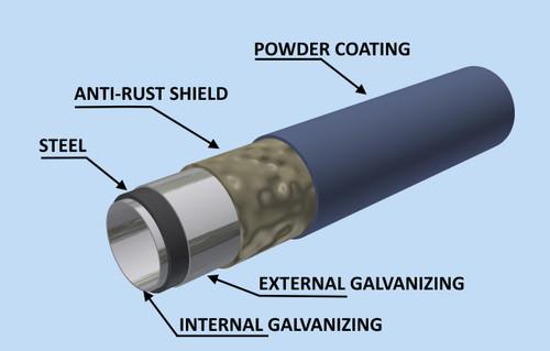 Manufactured using rust-resistant galvanized steel.