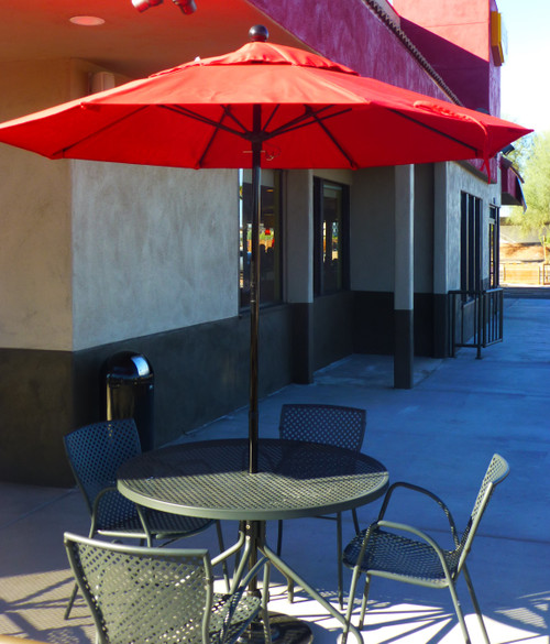 """CAFE' 43"""" OUTDOOR DINING SET (Carbon)"""