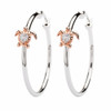 Rose Gold Turtle Hoop Earrings With Swarovski Crystals - ShanOre