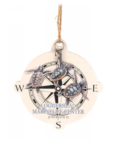 Baby Turtles Compass Ornament