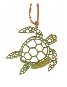 Holy Turtle Wood Ornament