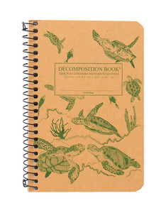Sea Turtles Decomposition Spiral Notebook - Pocket Sized