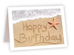 Happy Birthday Sand Drawing Card