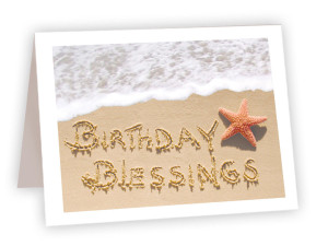 Birthday Blessings Sand Drawing Card