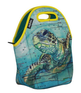 Sea Turtle Neoprene Insulating Lunch Tote