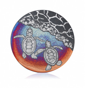 Raku Coaster - Sea Turtle Hatchlings
