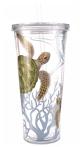 Honu Sea Turtle Tumbler with Straw - 24oz.