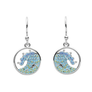 Blue Ocean Wave Drop Earrings - ShanOre